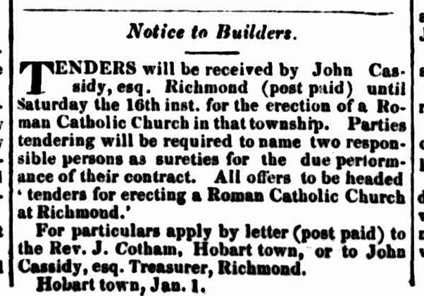 Hobart Town Courier 1 January 1836