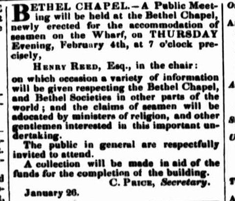 Bethel2 Launceston Examiner 27 January 1847