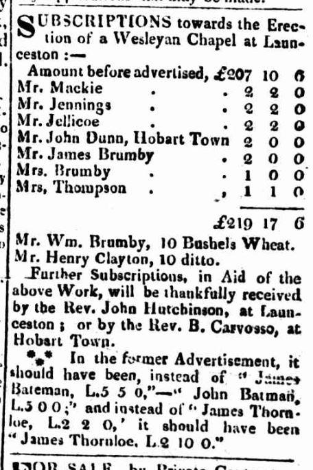 Hobart Town Gazette, 31 December 1825