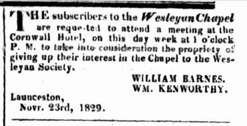 Launceston Advertiser 30 November 1829
