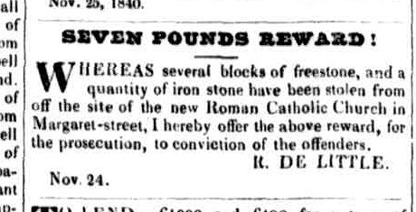 Launceston Advertiser 26 November 1840