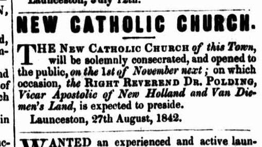 Launceston Courier 29 August 1842