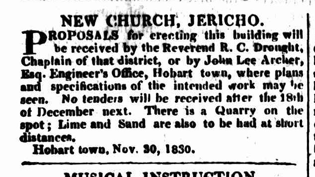 Hobart Town Courier 4 December 1830