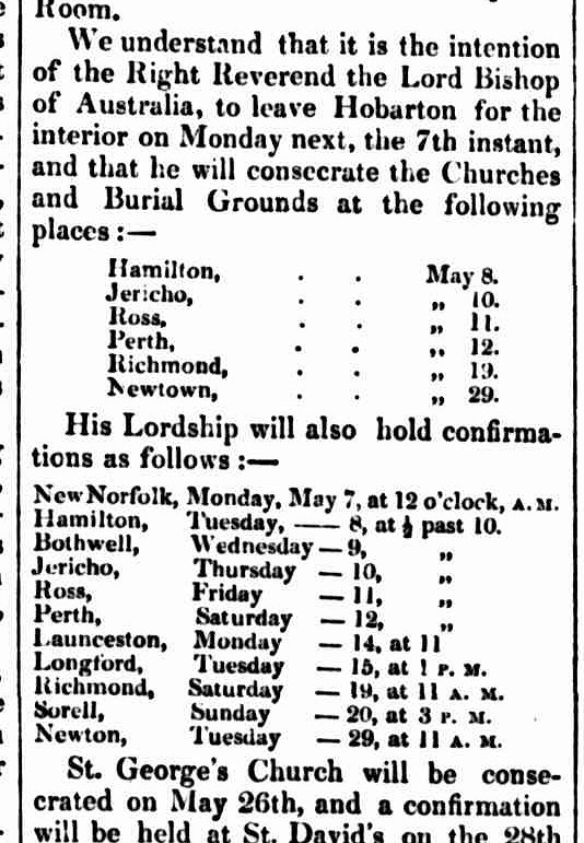 Hobart Town Courier 4 May 1838