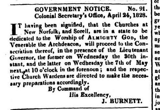 Hobart Town Couriter 26 April 1828
