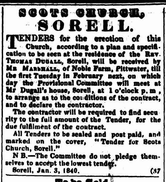 Colonial Times 4 February 1840