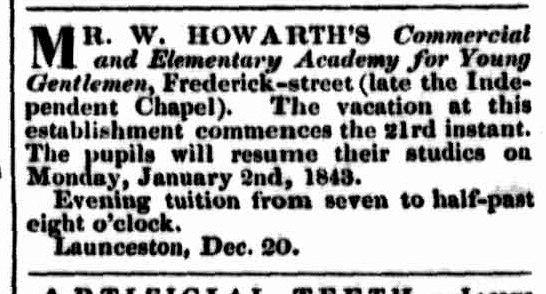 Launceston Examiner 21 December 1842