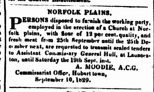 Hobart Town Courier, 12 September 1829
