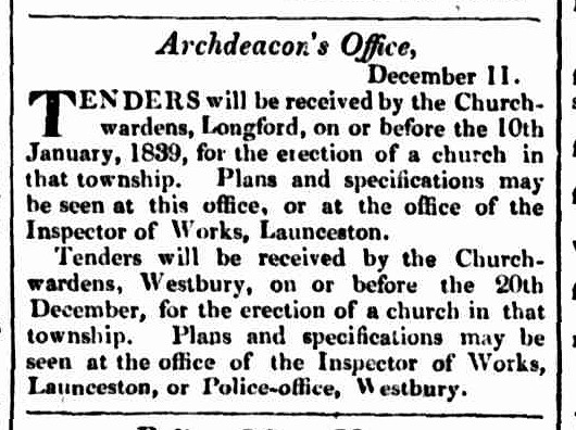 Hobart Town Courier, 14 December 1838
