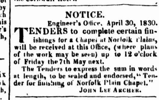 Launceston Advertiser, 3 May 1830