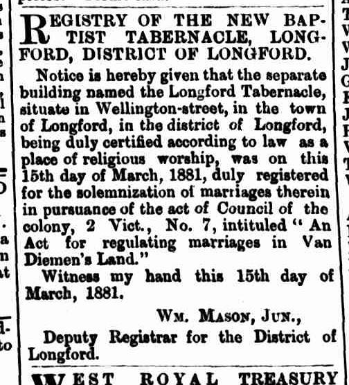 Launceston Examiner, 18 March 1881