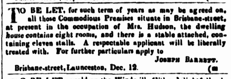 Cornwall Chronicle, 30 December 1846 --
