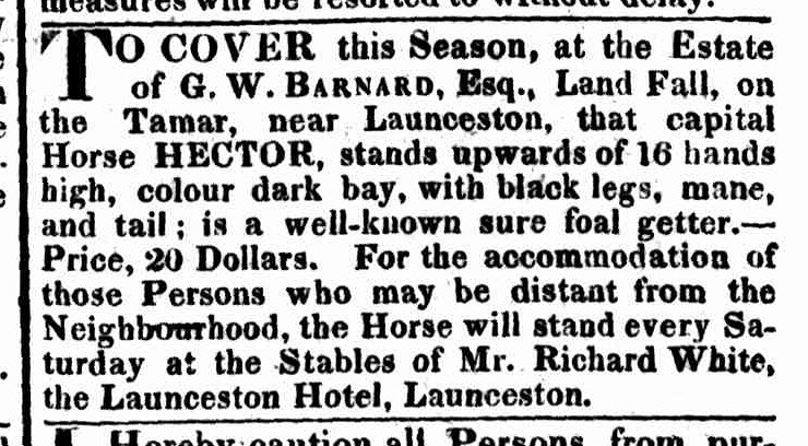 Hobart Town Gazette, 1 November 1823
