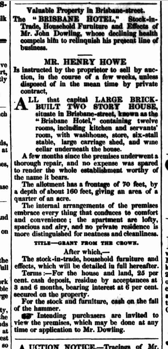 Launceston Advertiser, 18 August 1853 - BH