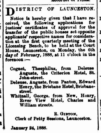 Launceston Examiner, 25 January 1888