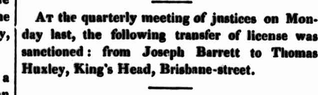 Launceston Examiner, 7 February 1844 - KH