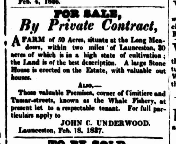 Cornwall Chronicle, 11 March 1837