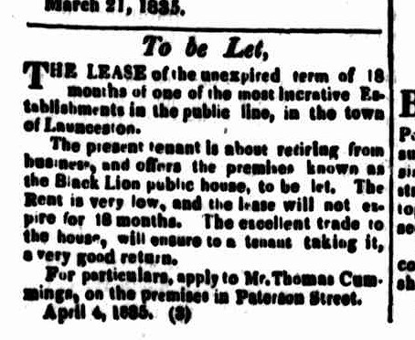 Cornwall Chronicle, 18 April 1835