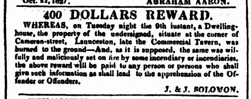 Hobart Town Courier, 27 October 1827