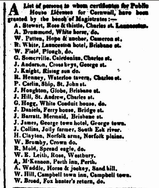 Hobart Town Courier, 3 October 1829