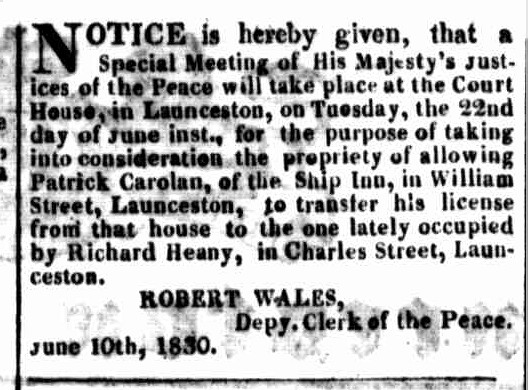 Launceston Advertiser, 14 June 1830