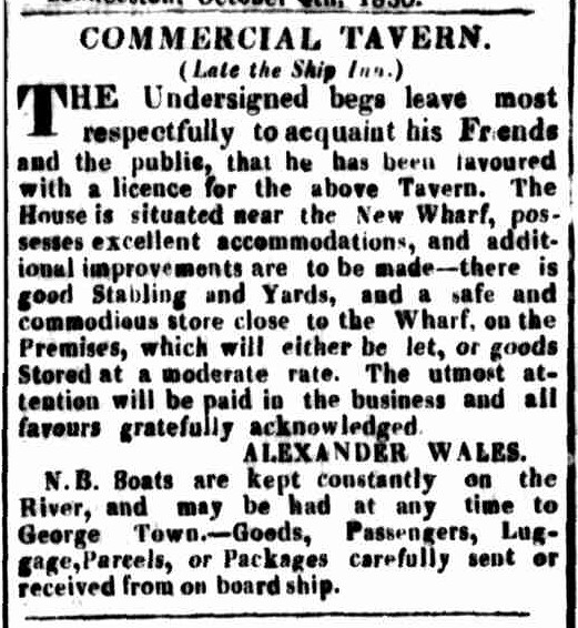 Launceston Advertiser, 18 October 1830
