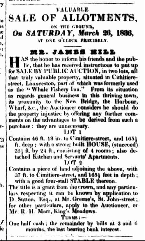 Launceston Advertiser, 24 March 1836