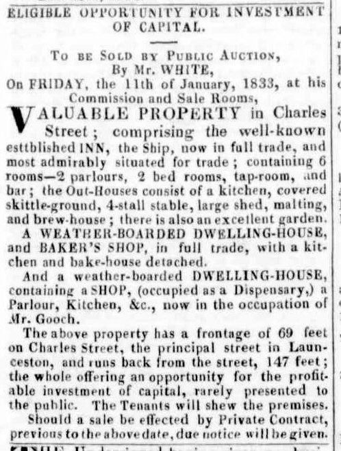 Launceston Advertiser, 27 December 1832
