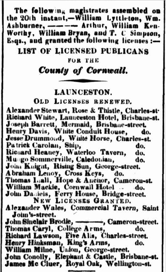 Launceston Advertiser, 27 September 1830