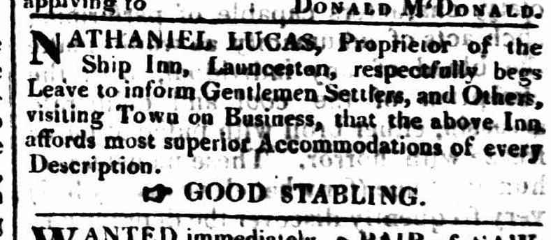 Tasmanian & Port Dalrymple Advertiser, 19 January 1825
