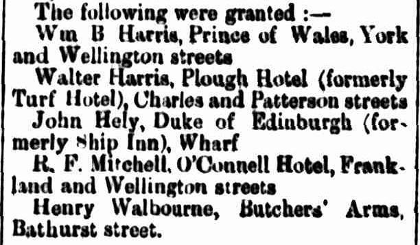 Annual Licensing, Cornwall Chronicle, 4 December 1867