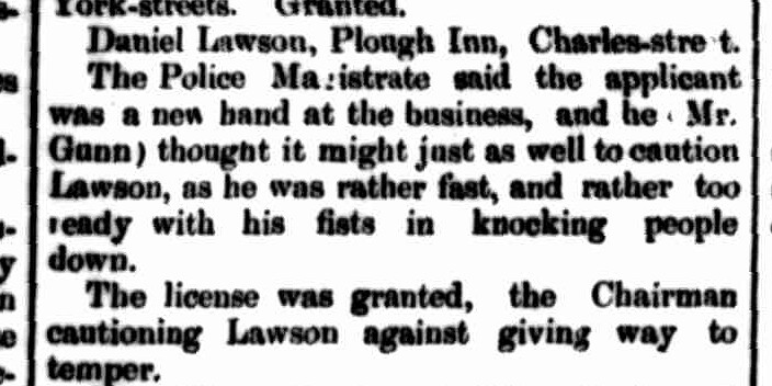 Annual Licensing Day, Launceston Examiner, 2 December 1862