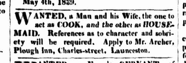 Cornwall Chronicle, 11 May 1839