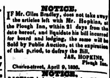 Cornwall Chronicle, 16 April 1836