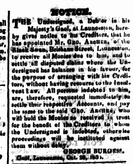 Cornwall Chronicle, 21 October 1835