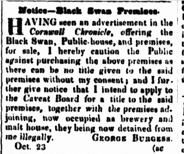 Cornwall Chronicle, 26 October 1844