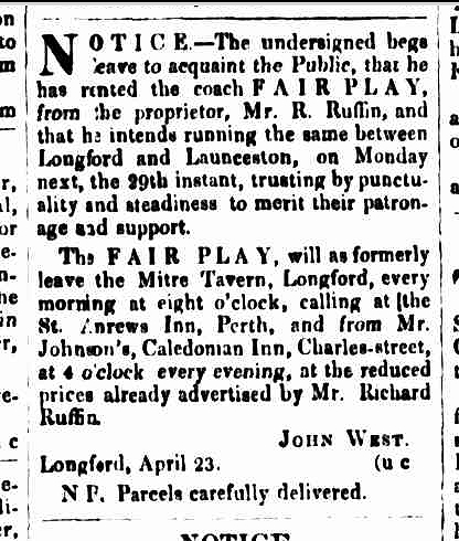 Cornwall Chronicle, 27 April 1844