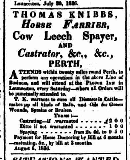 Cornwall Chronicle, 6 August 1836