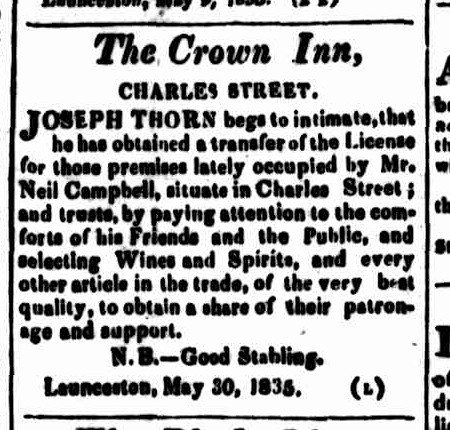 Cornwall Chronicle, 6 June 1835