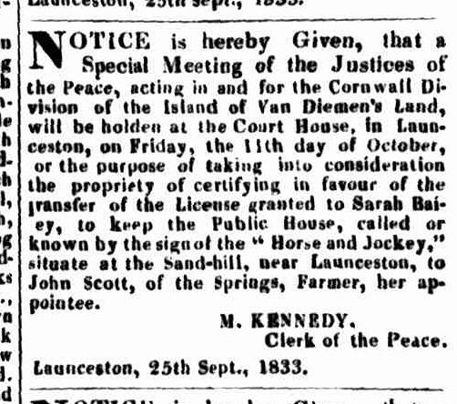 LA 3 October 1833