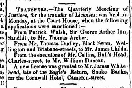 Launceston Advertiser, 10 August 1843