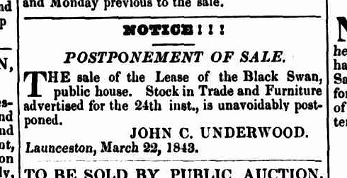 Launceston Advertiser, 23 March 1843