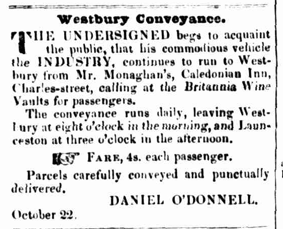 Launceston Advertiser, 23 October 1845
