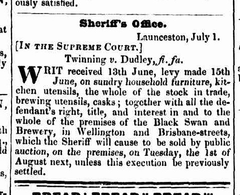 Launceston Advertiser, 6 July 1843