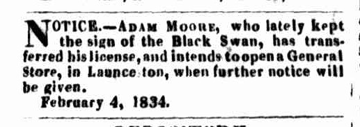 Launceston Advertiser, 9 February 1835
