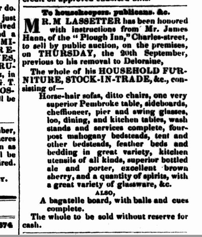 Launceston Examiner, 19 September 1849