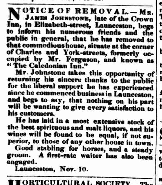 Launceston Examiner, 29 November 1843