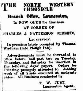 North Western Chronicle, 3 October 1887