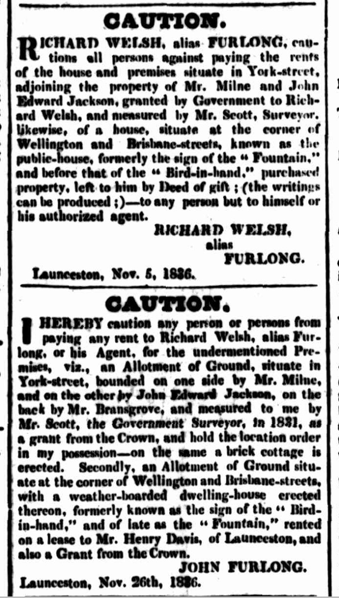 Cornwall Chronicle, 10 December 1836