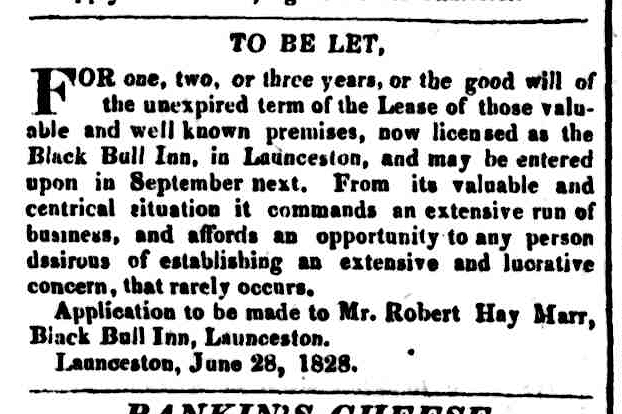 Hobart Town Courier, 5 July 1828